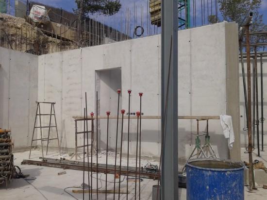 Concrete walls