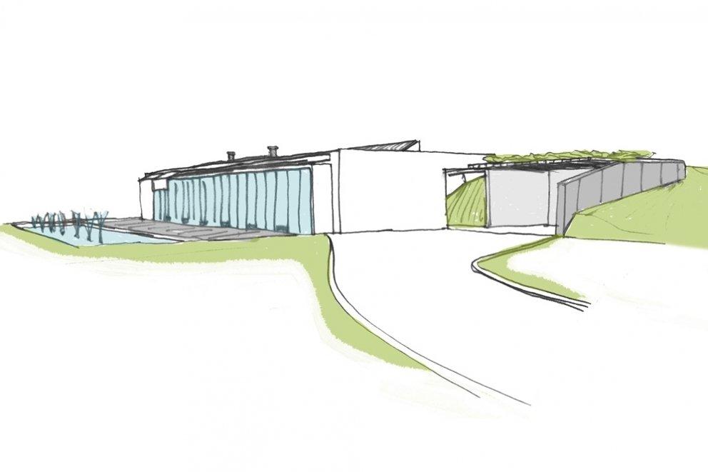 Bioclimatic house in Villena, Spain.