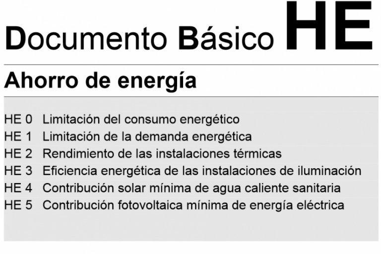 NOVEDADES EN EL DOCUMENTO BÁSICO DE AHORRO DE ENERGÍA (DB-HE)