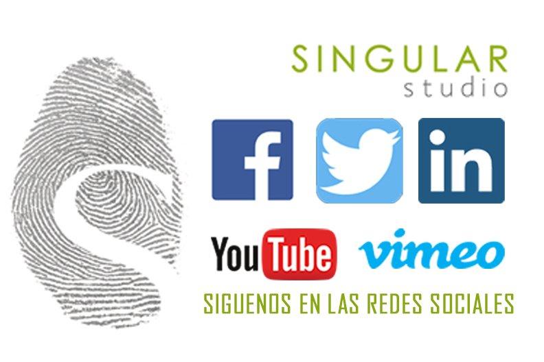 Singular Studio está presente en las principales redes sociales.