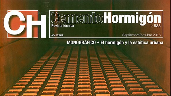 COLABORATION IN THE CEMENTO-HORMIGON MAGAZINE Nº 988